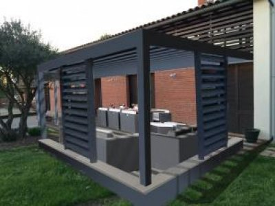 pergolas 160 pergola bioclimatique pergolas tonnelles et. Black Bedroom Furniture Sets. Home Design Ideas